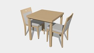 seating table bar 3D
