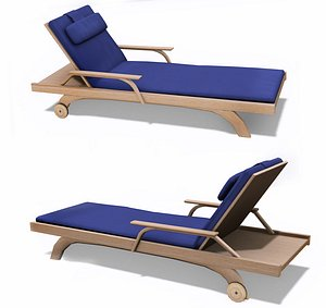3D model Poolside Chaise Lounge