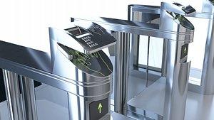 Gate,Intelligent Gate,Security Entrance 3D model