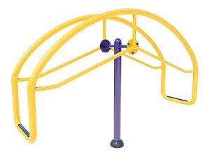 3D model seesaw playground