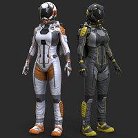 Female Sci-Fi Suit
