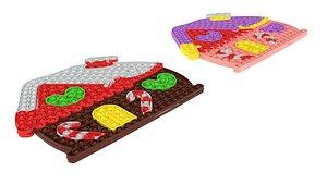 Large Gingerbread House Puzzle Pop It Fidget Toys Set 3D