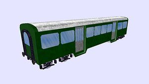 swiss rail passenger wagon 3D model