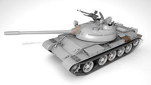 3D T-54B soviet tank