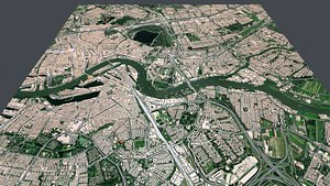 Cityscape Rotterdam Holland model