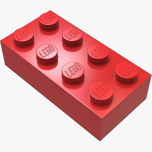 Lego Red Brick model