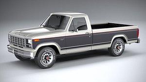 3D Ford F-150 Ranger 1980 model