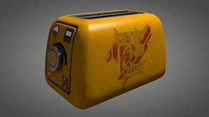 toaster toast vintage 3D