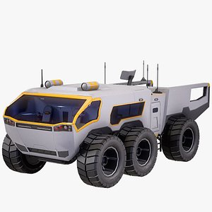 3D model exploration vehicle rover rigged