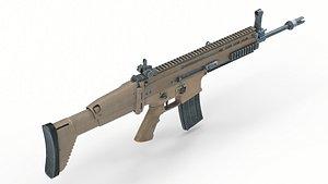 weapon fn scar 3D