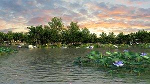 3D Park Wetland model