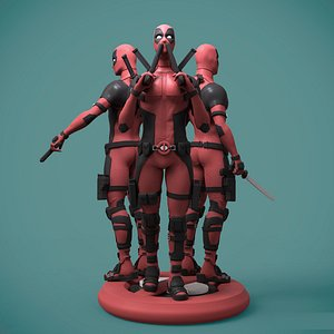 Deadpool ready for 3D printing 3D print model 3D