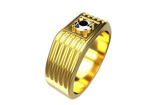 3D Gents Ring Gold 3D print model