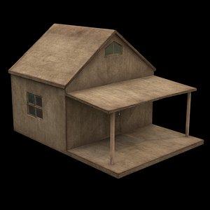 3D model wood shed