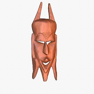 african mask 02 hypoly 3D model