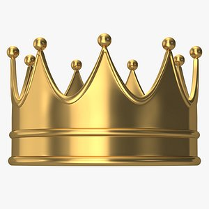 3D crown king cartoon model