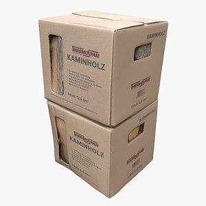 3D model Cardboard Box 08