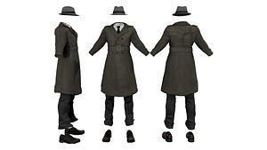 Mens Inspector Full Outfit 3D model