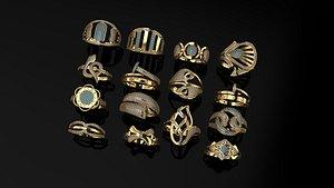 ring gold 3D model