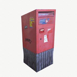 canada mailbox post model
