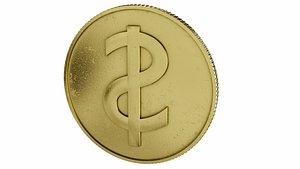 Dollar symbol 3D model