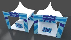 booth carnival tent gate model