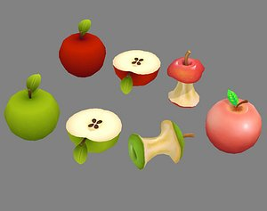 apple core green 3D model