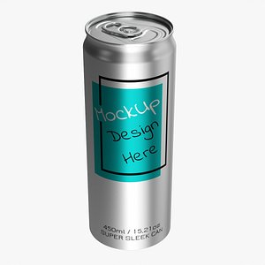Super sleek beverage can 450 ml 15-21 oz 3D model