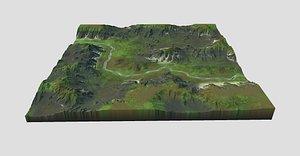 games terrain 3D model