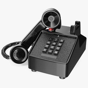 3D Antique Retro Telephone Off Hook model