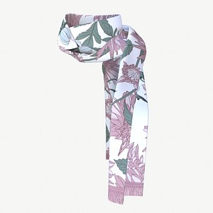 Flowered scarf 3D model