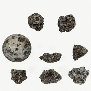 3D Asteroid Set