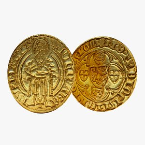 Medieval Goldcoin 3D model