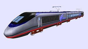 acela express electric passenger train model