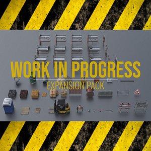 3D model Work In Progress - Expansion Pack - Blender and FBX