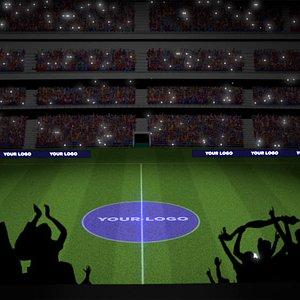 stadium crowd 3D model
