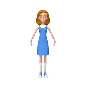 3D model Girl 06 Cartoon