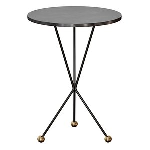 Elan Side Table Black Metal By Noir 3D