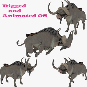 Buffalo Rigged and Animated 3D model