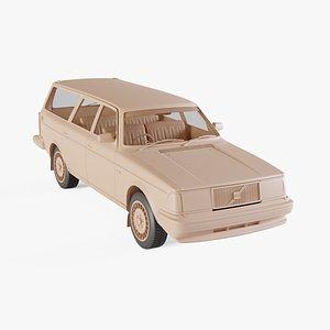 1984 Volvo 245 Wagon 3D model