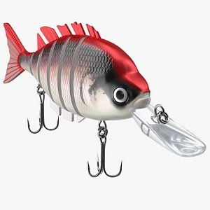 3D Multi Jointed Crankbaits Red Lure