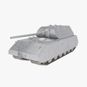 Maus Tank - Game-Ready - RIGGED - LOW-POLY 3D model
