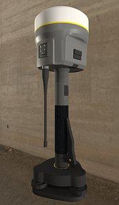 3D Trimble gnss receiver model