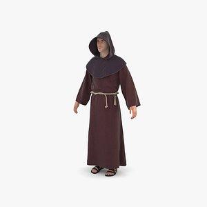 3D Catholic Monk model