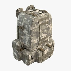 Military Backpack Yellow 3D model
