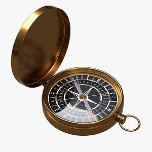 3D model Vintage pocket compass