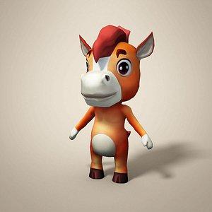 3D horse cartoon model