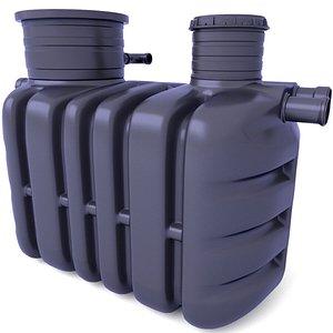 3D Septic Tank Domestic Sewage Treatment Plants 3