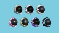 07 Astronaut Helmet Collection - Character Design Fashion