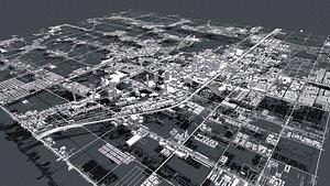 Cityscape Las Vegas Nevada USA 3D